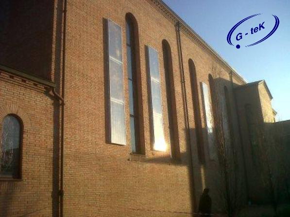Pannello solare ad aria per grossi ambienti